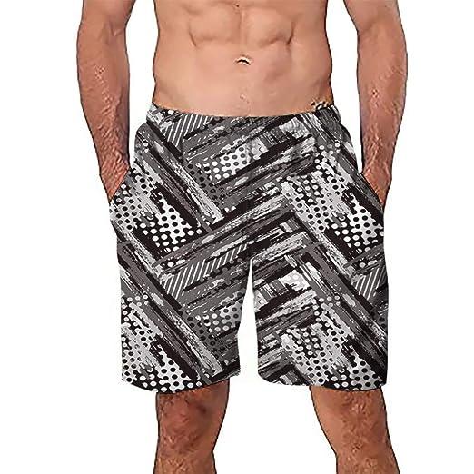 Steady Hawaiian Mens Beach Shorts Fashion Printed Breathable Mesh Design Quick Dry Men Boardshorts Leisure Summer Holiday Short Pants Board Shorts