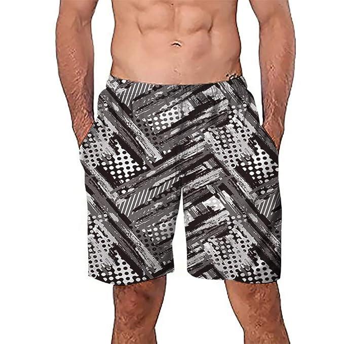 bc01a5c864 HOYURI Casual Mens Swim Trunks Quick Dry Printed Beach Shorts Summer  Boardshorts with Mesh Lining Sports Trunks | Amazon.com