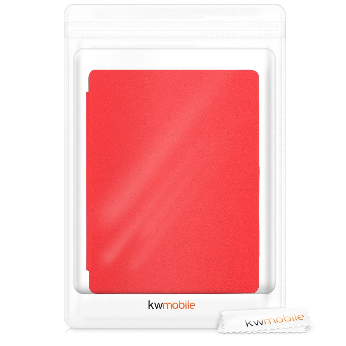 kwmobile Flip cover case for Kobo Aura H2O Edition 2 - imitation leather foldable case in red by kwmobile (Image #8)