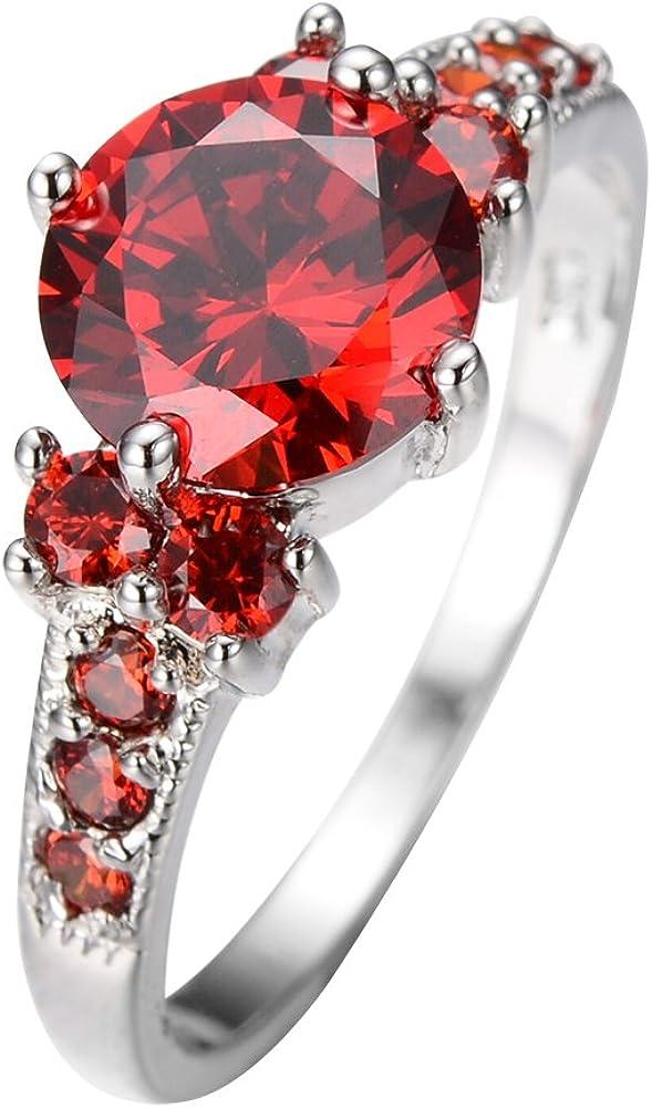 Beauté Femmes Bague Diamant Bague de mariage classique Bridal Crystal Ring Taille 6-10 JZ