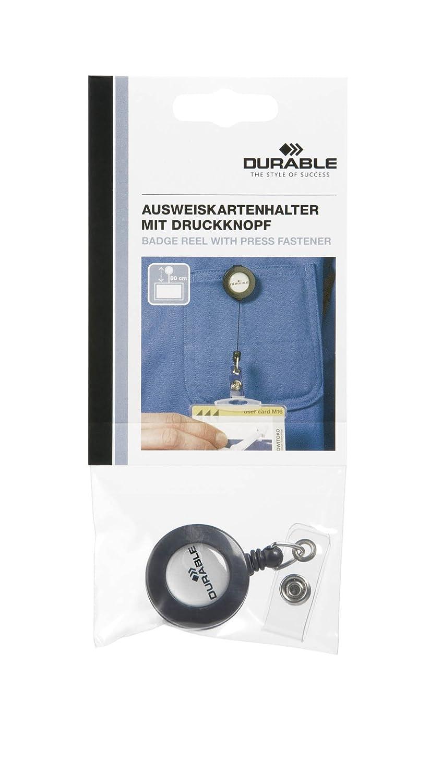 Durable 822658 - Pinza con cordón retráctil para tarjetas ...