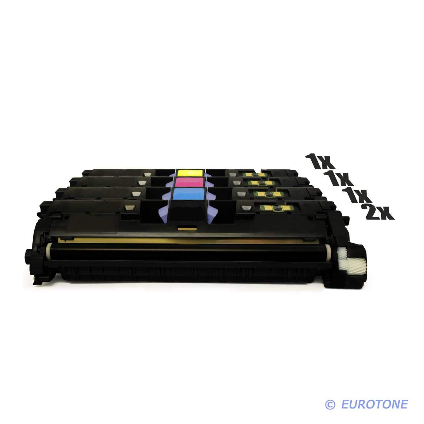 5X Eurotone Toner für Canon LBP 5200 ersetzt 701 schwarz Cyan Magenta Gelb