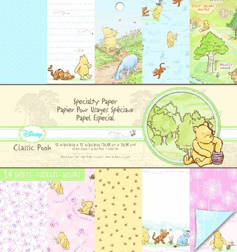 EK Success Brands Disney Specialty Paper Pad, Classic Pooh (Pooh The Crafts Winnie)