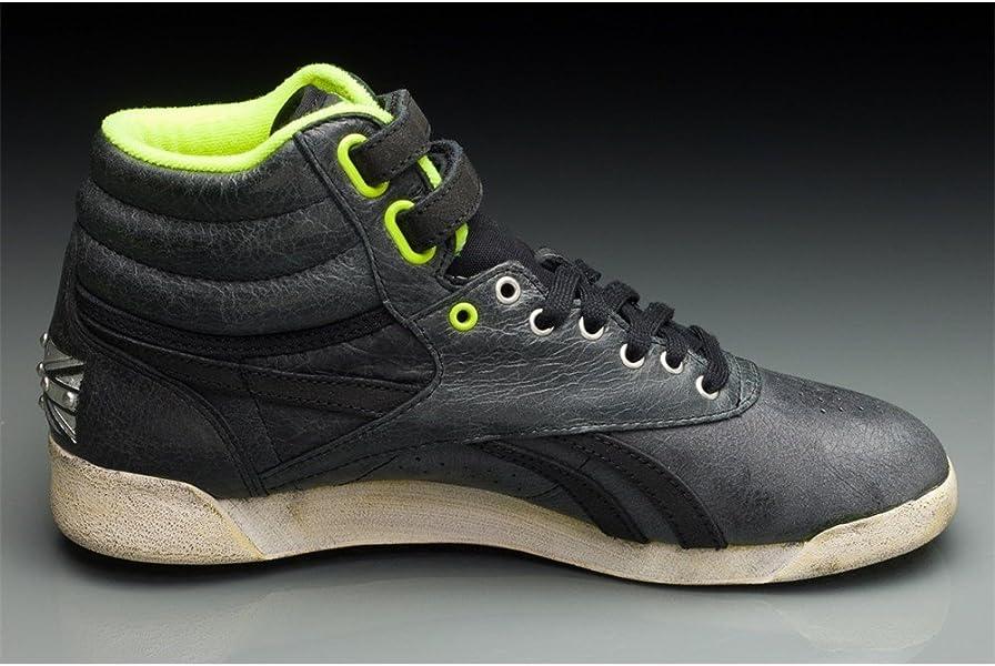 ce60d212f5d15 Reebok - FS Hi - V61035 - Couleur  Creme-Vert-Noir - Pointure  41.0 ...