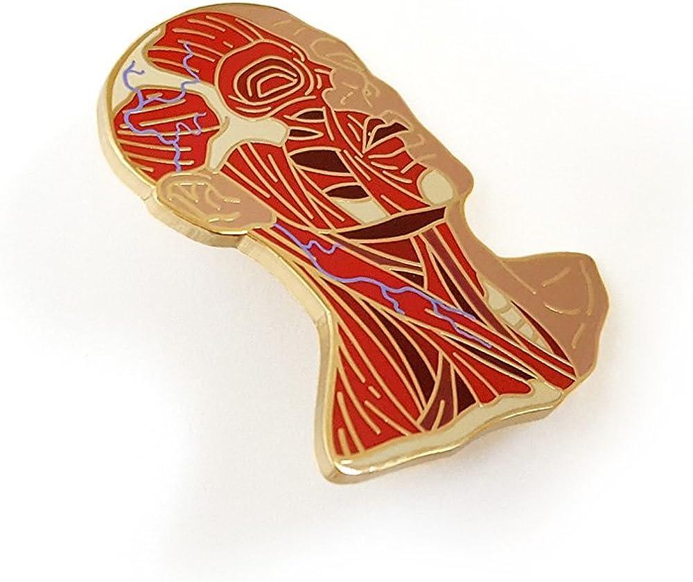 Pinsanity Head Anatomy Enamel Lapel Pin