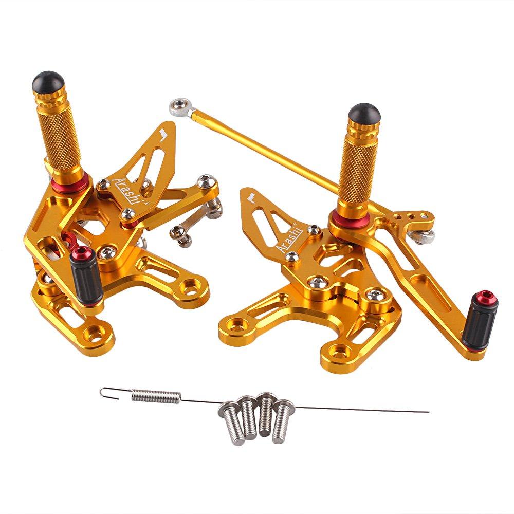 GZYF バイク用 可調整 バックステップキット アルミ製 CNC加工 対応車種(カワサキ ZX-10R 08-10年) ゴールド   B01LWLML8Z