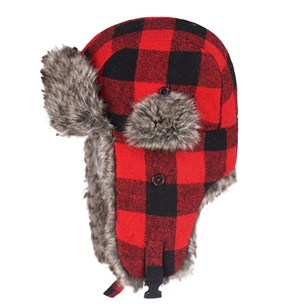 Bangni Winter Trooper Trapper Hunting Faux Fur Hat Ear Flaps Aviator Snow Cap