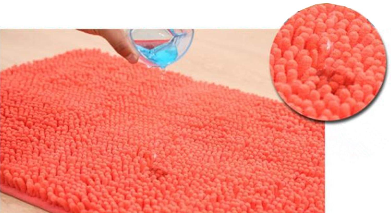 Morbuy Alfombra de Dormitorio, Chenille Redondo Antideslizante Súper Absorbente Suave Cómodo Alfombra de la Sala Colchoneta de Yoga (60cm, ...