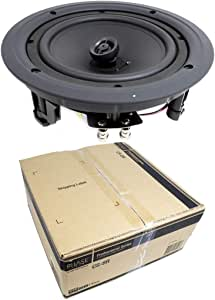 NEW Pyle PDIC81RDBK 250W 8 Inch Flush In-Wall In-Ceiling Black Speakers Eight 8