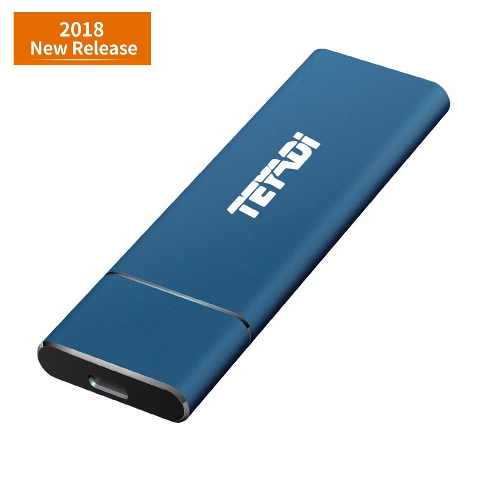 TEYADI External SSD 256GB, Portable Solid State Drive, USB 3.1 Gen 2, M.2 SSD, Superfast Read/Write Speeds, External Storage Compatible for Latop, Desktop, Tablet, Android Phones by TEYADI (Image #1)