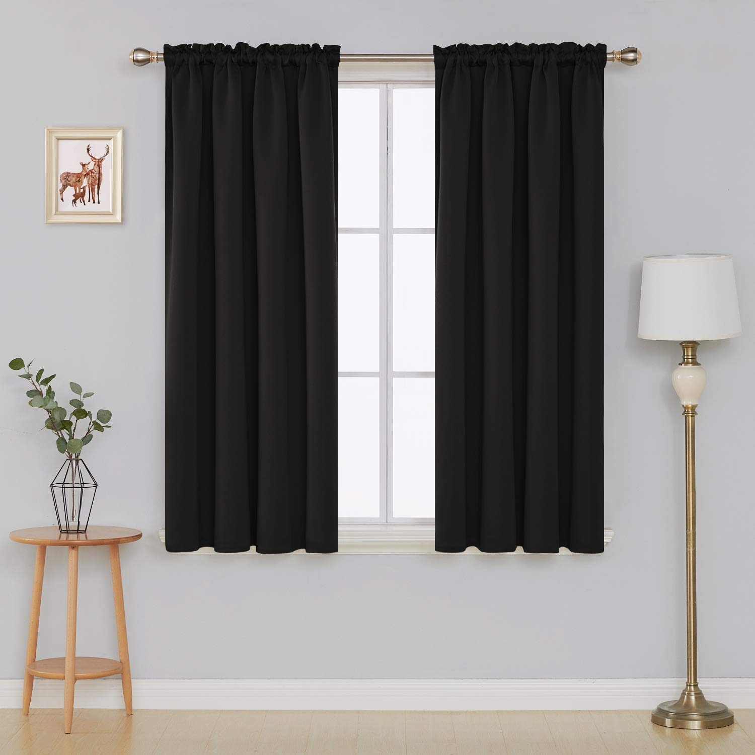 Amazoncom Deconovo Blackout Curtains Rod Pocket Curtains Room