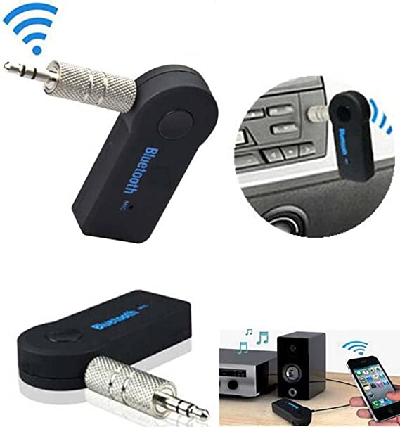USB Wireless Bluetooth 3.5 mm AUX Audio Stereo Music Adapter Receiver Car Home C