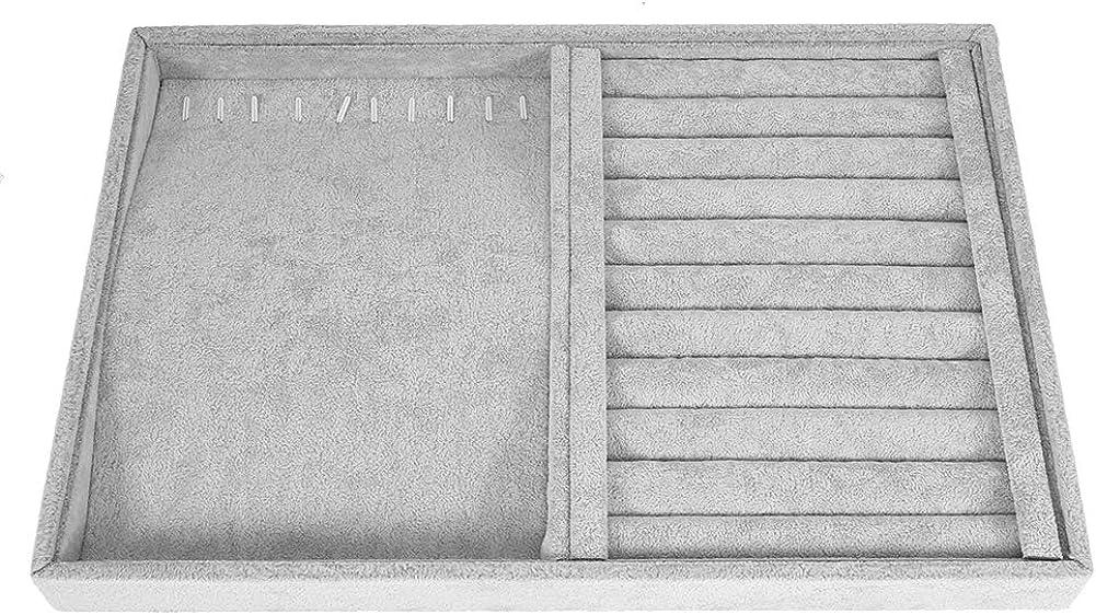 TMISHION Vassoio Anelli Orecchini Anello Contenitore per Gioielli con Collana e Bracciale Organizer per Gioielli da Donna Vassoio portagioie Contenitore per Gioielli Orecchini