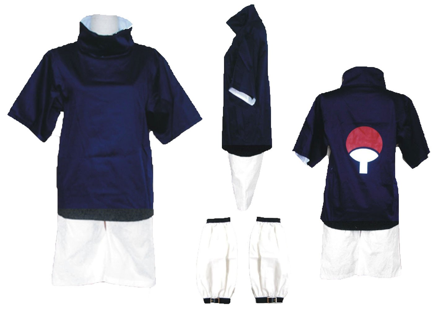 Wsysnl Japanese Anime Cosplay Costume for Sasuke Uchiha Teenager Version Adult/Kids