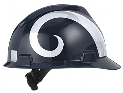 e88501f3 V-Gard Los Angeles Rams Front Brim NFL Hard Hat, Size: One Size Fits ...