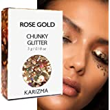 KARIZMA Rose Gold Chunky Glitter Beauty ✮ Festival Glitter Cosmetic Face Body Hair Nails