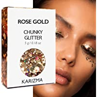 KARIZMA Rose Gold Chunky Glitter Beauty ✮ Festival Glitter Cosmetic Face Body Hair Nails