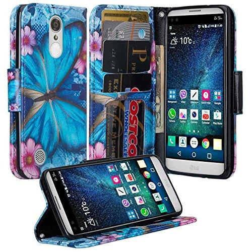 brand new 7c238 a5a8e LG Rebel 3 LTE Case, LG Aristo Case /LG Risio 2/LG K8 2017 Case /LG Fortune  /LG Phoenix 3 Case Wrist Strap Flip [Kickstand] Pu Leather Wallet Case ...