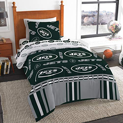 The Northwest Company NFL New York Jets Twin Bed in a Bag Complete Bedding Set #645436744 ()