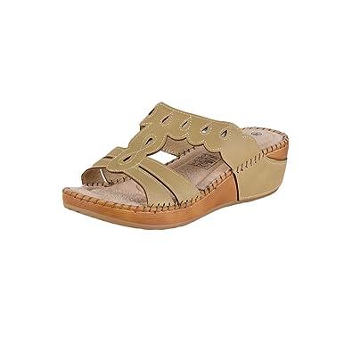 Lisanne Lisanne Lisanne Comfort Damen Pantolette Sandale in Beige f3f96a