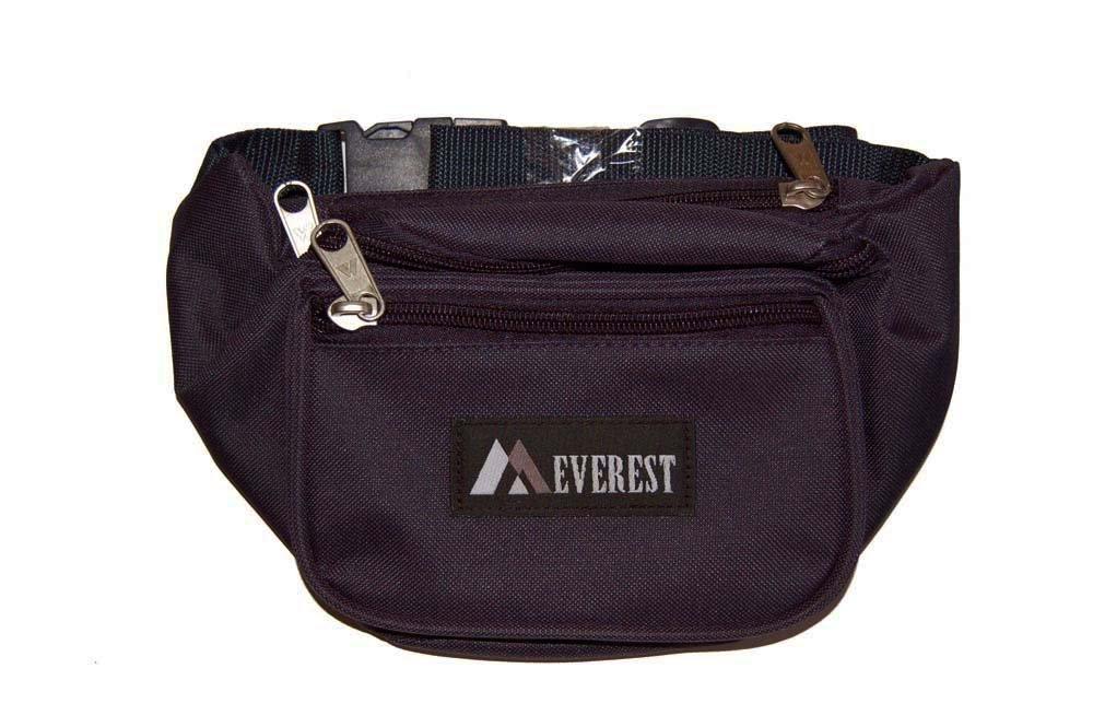 Everest Fanny Waist Pack - 44KD Black by EVEREST