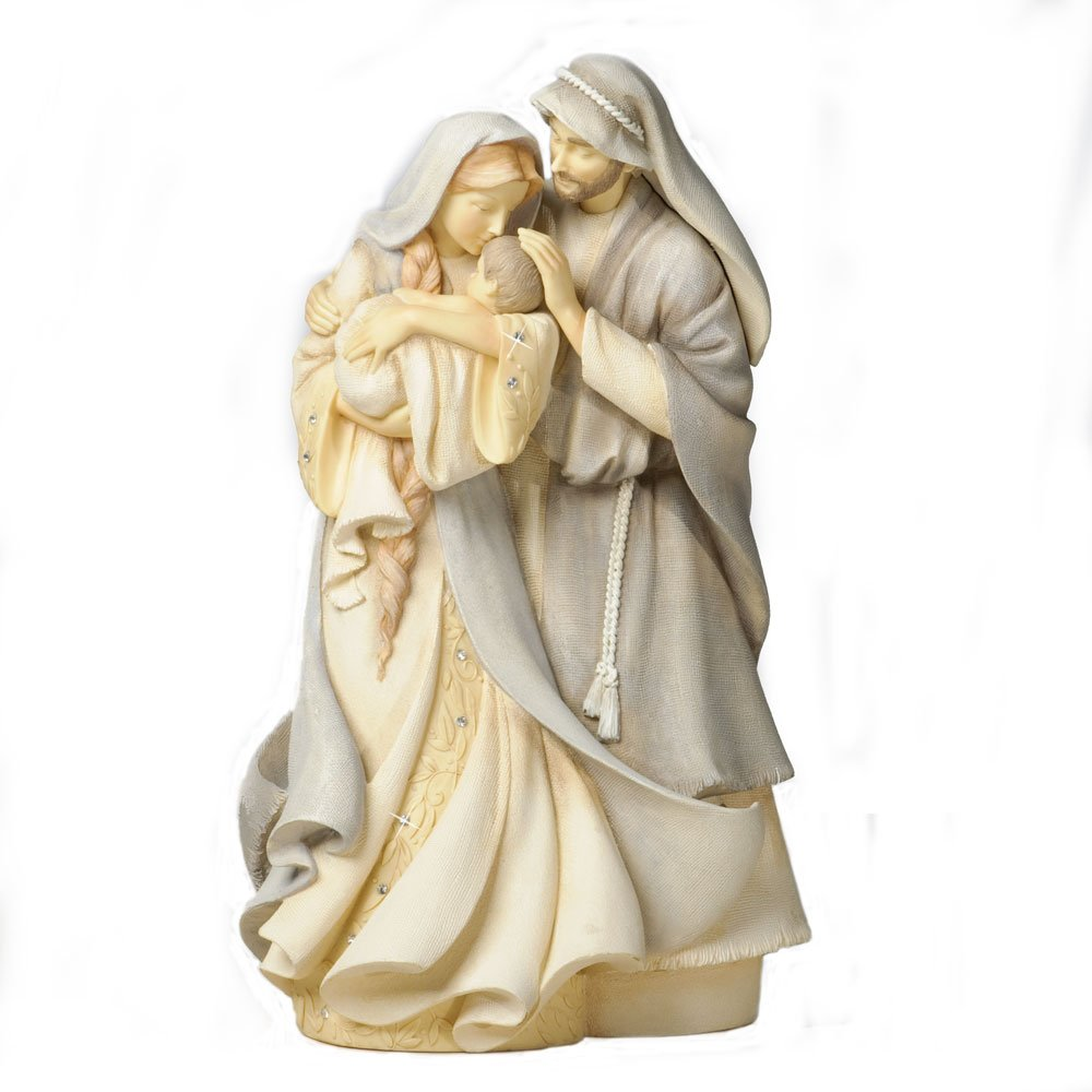 Foundations Holy Family Stone Resin Figurine, 9""