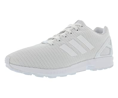 adidas Originals Men's ZX Flux Fashion Sneaker, White/White/Light Grey, 7.5