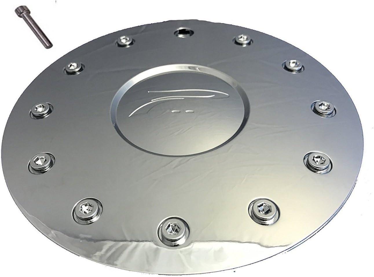 NEW PLATINUM SHIELD BY ULTRA CHROME WHEEL RIM CENTER CAP 89-9215 61002285F-1