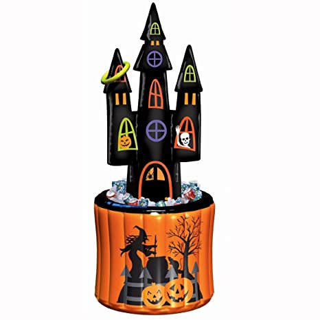 amscan halloween haunted house inflatable cooler and ring toss game