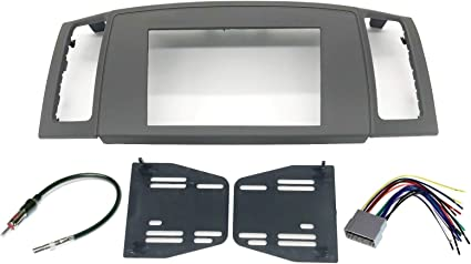 Amazon.com: Double Din Navigation Radio Bezel Dash Install Kit with  Standard Wiring Harness and Antenna Adapter - Khaki Compatible with Jeep  Grand Cherokee 2005-2007: Car Electronics | 2005 Grand Cherokee Wiring Harness |  | Amazon.com