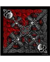 "Celtic Cross and Gothic Skulls Biker Bandana measures 21""x21"" New BIKER Doo Rag!"
