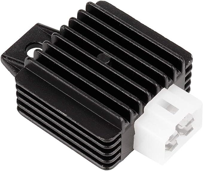 SANON Rectificador de Regulador de Voltaje Completo de Aleación de Aluminio 12V Apto para Motocicleta Gy6 50Cc-150Cc