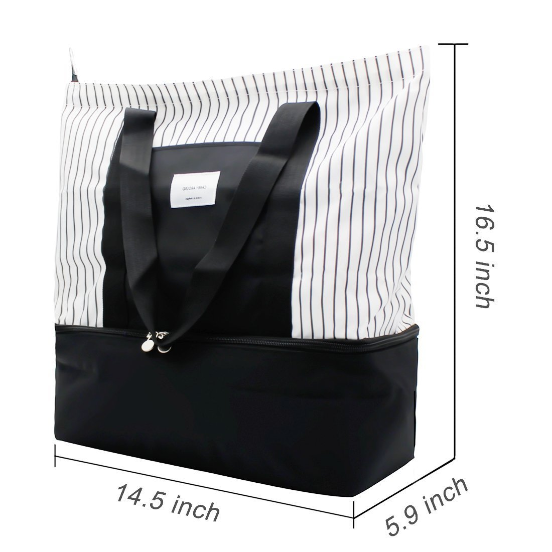 2-in-1 Large Insulated Cooler lunch Tote Bag Ladies Trendy Zippered Teacher Bag Utility Beach Tote Bag for Women by ExquisiteHome (Image #2)