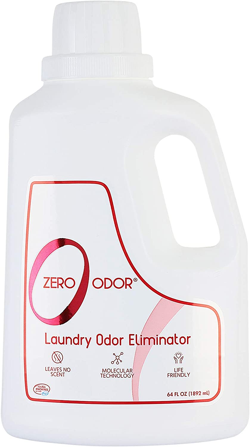 Zero Odor - Laundry Odor Eliminator & Deodorizer - Great for Pet Bedding & Sweaty Workout Clothes -(64-Ounce)
