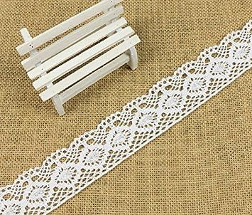 /Y04005 Yulakes 4,6/m Coton ruban de dentelle 4.3/cm Style vintage floral Edge galon ruban pour artisanat v/êtements et accessoires pour mariage D/écoration/