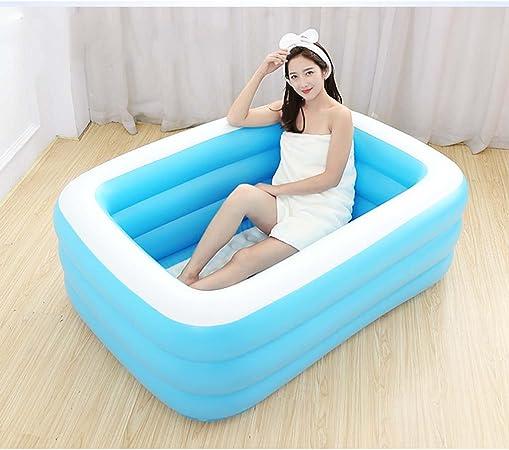 HAO SHOP Bañera Inflable - Piscina para niños Bañera de plástico Plegable Grande para Adultos Bañera Apta para baño Piscina de jardín para Dormitorio (Tamaño : L): Amazon.es: Hogar