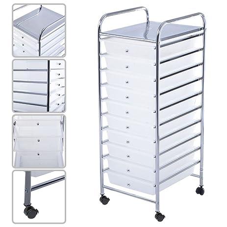 Amazon Masterpanel 10 Drawer Rolling Storage Cart Scrapbook