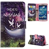 For Galaxy S4 , TUTUWEN [Tree and Leaf] New Style [Magnetic] Wallet PU Leather [Stand] Flap Closure Case Flip...