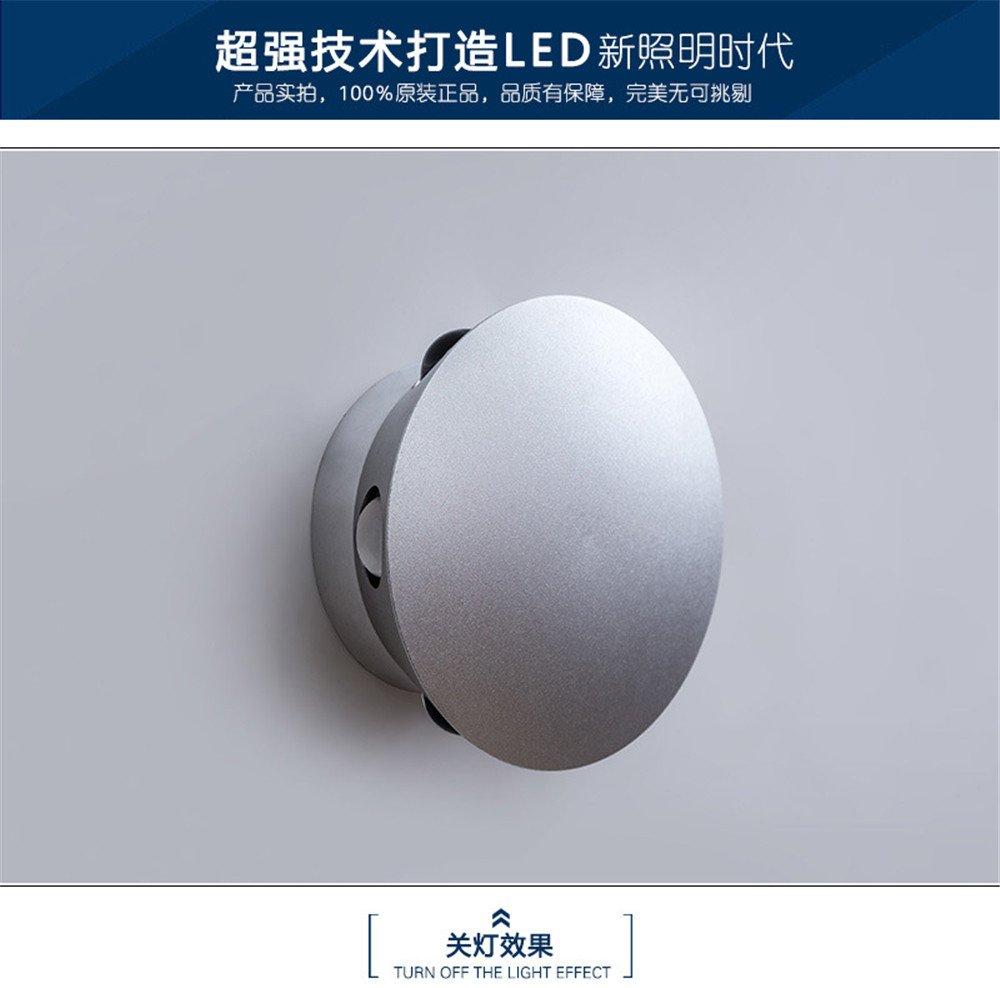 Led Solar Flower Colorful Wall Lamp Hotel Rooms Wall Lamp, 120mm59mm by FDH Wall Lamp