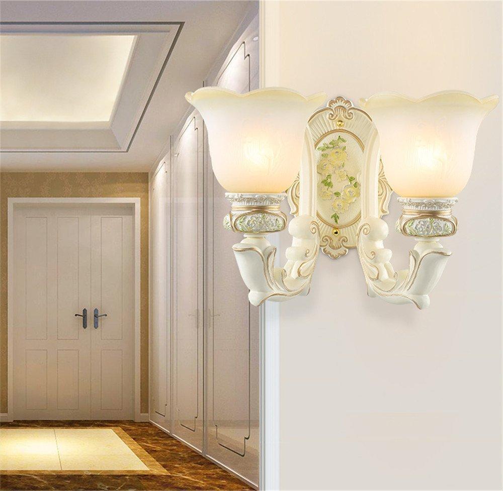 MMYNL Moderne E27 Antik Wandlampe Vintage Wandlampen Wandleuchten für Schlafzimmer Wohnzimmer Bar Flur Bad Küche Balkon Lamp Bed Kopf, Doppelkopf Wandleuchte