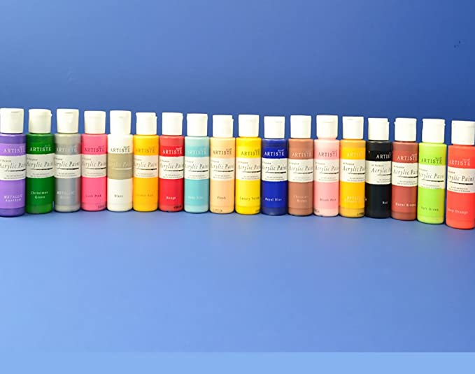 Bumper Collection 18 Bottles of docrafts Artiste All Purpose Acrylic Craft Paint: Amazon.co.uk: Kitchen & Home