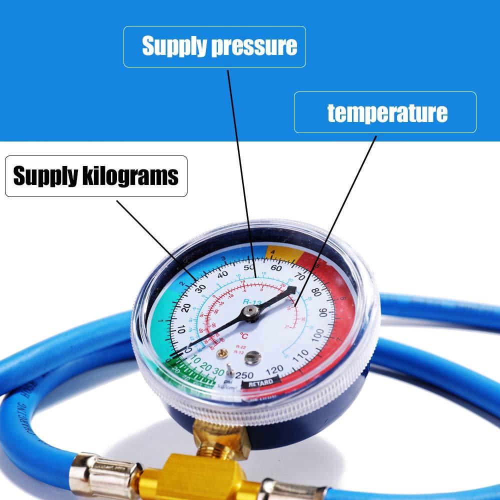 Festnight Equipo del indicador de la manguera de medici/ón de la recarga del refrigerante del aire acondicionado del coche de la CA R134A