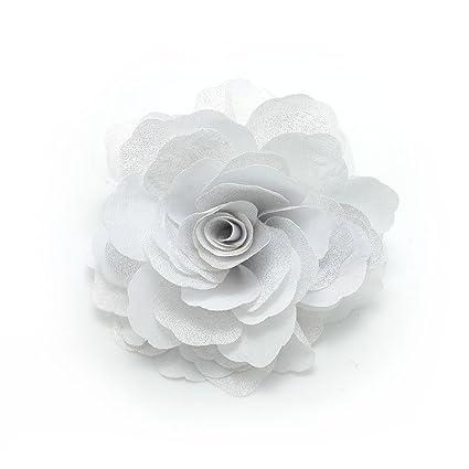 style populaire nouveaux produits chauds une autre chance Meilliwish Camélias Une fleur Pince à cheveux Broche(A74)(blanc)