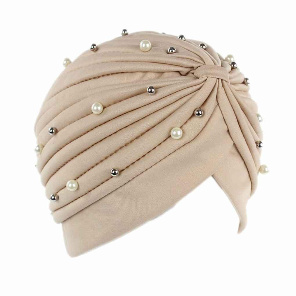 vkospy Perdita Donne Perla Artificiale Turbante di Capelli del Cappello tumore della Testa Sciarpe chemioterapia cap Cappelli