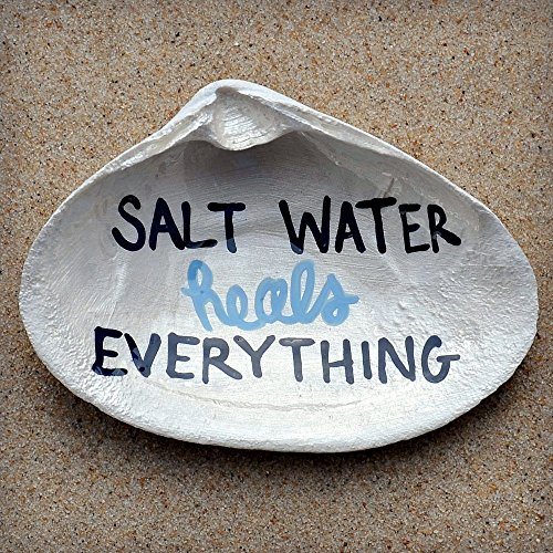 Soap Dish - Spoon Rest - Ring Dish - Jewelry Dish - Trinket Dish - Catchall | Salt Water Heals Everything Clam - Beach Heal The