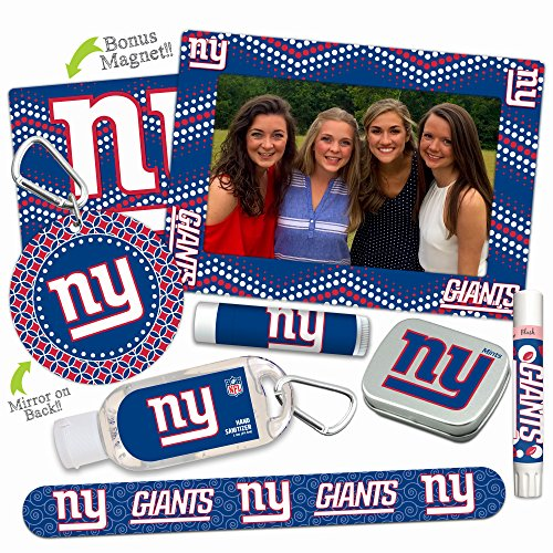 - New York Giants Deluxe Variety Set with Nail File, Mint Tin, Mini Mirror, Magnet Frame, Lip Shimmer, Lip Balm, Sanitizer. NFL gifts for women Mother's Day, Stocking Stuffers