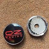 4 peças 60 mm para OZ Racing Carro Emblema Emblema Adesivo Carro Roda Centro Tampa Hub para Excelentes Acessórios Automáticos