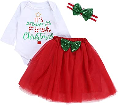 POLP Niño Regalo Navidad Niña Vestido Mono Bebe Rojo Navidad Bebe ...