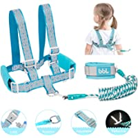 Toddler Leashes Harness - Child Leash Backpack - Anti Lost Wrist Link - Safety Leash for Kids - Baby Leash for Walking Reflective - 6.56ft Blue