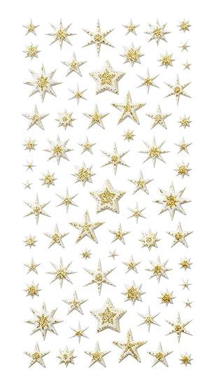 Weihnachtskarten Mit Sternen Basteln.1 Bogen Gold Farbene Weihnachtssterne Sterne Aufkleber Sterne Sticker Ca 70 Stück Zum Verzieren Der Weihnachtsbriefe Und Weihnachtskarten